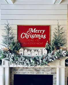 🌟Tante S!fr@ loves this📌🌟 🌲Happy Saturday🌲 I'm so excited to show you my finished mantel! This beautiful sign by was my inspiration. I absolutely… Christmas Fireplace, Farmhouse Christmas Decor, Christmas Mantels, Country Christmas, Holiday Decor, Target Christmas Decor, Cottage Christmas, Christmas Villages, Holiday Style