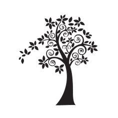 Arbol decorativo vector - Imagui