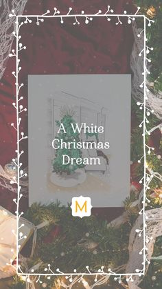We're dreaming of a white Christmas, and this all-white-everything living room is making it come true. Different Holidays, All White, Beautiful Space, Winter White, White Christmas, Table Settings, Boards, Things To Come, Living Room
