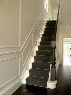 Communal stair carpet and rods
