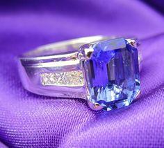 Menashe & Sons Jewelers custom fancy cut tanzinite ring