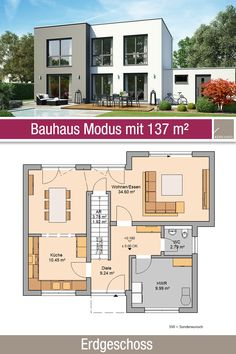 Modern House Floor Plans, House Plans, Plans Architecture, Townhouse, Facade, Cottage, House Design, Flooring, How To Plan