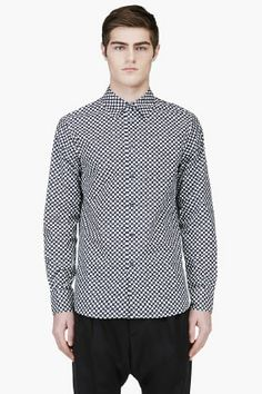 MARNI Black & White Patterned Shirt
