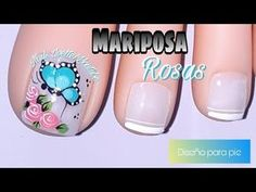 Toe Nail Art, Toe Nails, Butterfly Makeup, Nail Effects, Manicure And Pedicure, Nail Art Designs, Nail Polish, Make It Yourself, Videos