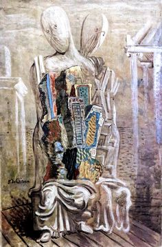 IMG_8666 Giorgio de Chirico. 1888-1978 Modern Art, De Chirico, Mural Painting, 1930s Art, Metaphysical Art, Painting, Surrealism, Art, Art Movement