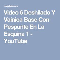 Vídeo 6 Deshilado Y Vainica Base Con Pespunte En La Esquina 1 - YouTube