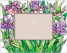 Find the biggest selection of Wall & Tabletop Frames from Joan Baker Designs at the lowest prices. Glass Painting Patterns, Glass Painting Designs, Fabric Painting, Iris Art, Glass Photo Frames, Stained Glass Paint, Hand Painted Plates, Purple Iris, Glazes For Pottery
