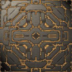 Forerunner Design by dark-veex on DeviantArt 3d Texture, Tiles Texture, Game Textures, Textures Patterns, Surface Modeling, Sci Fi Environment, Tech Art, Ancient Aliens, Texture Painting
