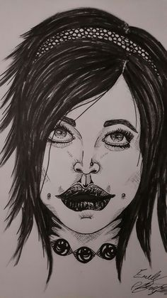 Dem Lips to Much- ink by KandiRaine