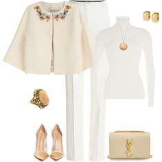 outfit 2121 by natalyag on Polyvore featuring Michael Kors, Emilio Pucci, Gianvito Rossi, Yves Saint Laurent, Arte d'Oro and House of Harlow 1960