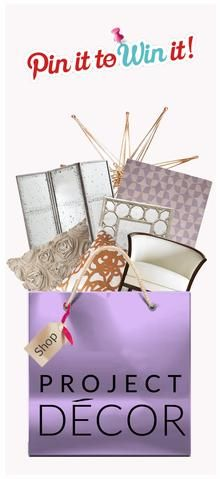 Pin your favorite shopping bag and get a chance to win something inside! Click thru for details. #projectdecor #pintowin