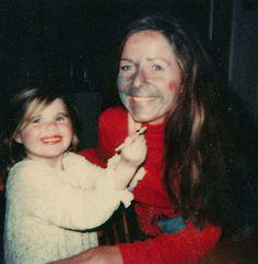 Doing my Mummy's makeup, 1980.