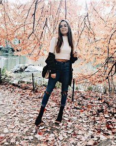 Friday: White, knit sweater            Dark denim jeans            Black jacket            Black ankle high boots