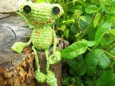 Freddy the Amigurumi Frog by WyandotteWears on Etsy, $7.00