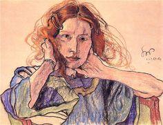 Wyspianski, Stanislaw (1869-1907) - 1904 Portrait of Ireny Solskiej (National Museum, Poznan, Poland) | Flickr - Photo Sharing!