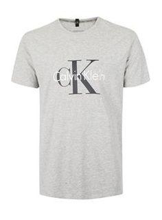 CALVIN KLEIN Grey Logo Loungewear T-Shirt