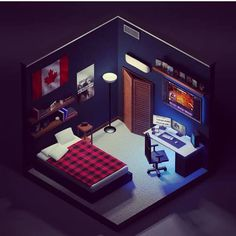 Gamer Bedroom, Bedroom Setup, Room Ideas Bedroom, Computer Gaming Room, Gaming Room Setup, Gaming Rooms, Small Game Rooms, Cool Room Designs, House Games