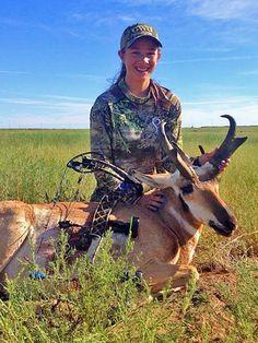 LG Brings Home Antelope for Dinner antelope burrito recipe archery antelope hunt http://www.womensoutdoornews.com/2014/11/lg-brings-home-antelope-dinner/