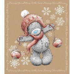 Christmas Baubles Me to You Bear tatty ted