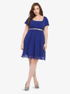 Chiffon Empire Dress. I think my spring wardrobe needs this item!