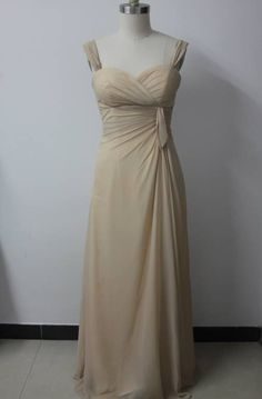 Straps Sleeveless Greens Floor-length #Bridesmaid #Dress in Champagne Style Code: 02012 $89