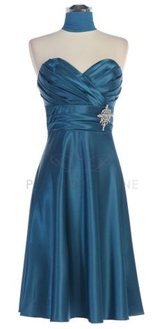 Teal Strapless Brooch Bridesmaid Dress-minus the broach!