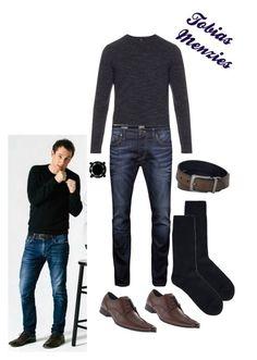 """Tobias Menzies"" by classic-erynn on Polyvore featuring Vince, Jack & Jones, Calvin Klein, Doré Doré, Levi's, men's fashion, menswear, GameOfThrones, Actor and Outlander"