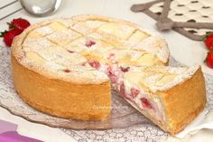 "strawberry tart with ricotta and mascarpone. 20/24x180. 30-35"""