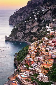 Positano, Amalfi Coast, Campania, Italy Art Print by Slow Images Places To Travel, Travel Destinations, Places To Visit, Beautiful Places In The World, Wonderful Places, Amazing Places, Italy Art, Dream Vacations, Italy Travel