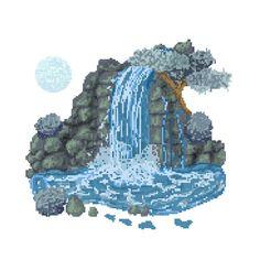 Cascada Pixel Art, bits