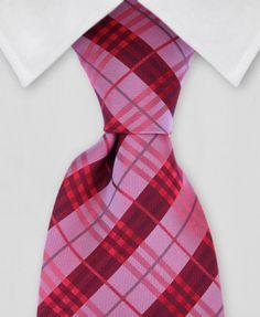 Plaid Tie - Red Plaid Tie