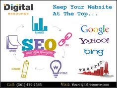 Search engine optimization is imperative to the success of your business in an online and without it you are not going to achieve high rankings in search results. Digital Resource, the internet marketing company has served great results across SEO, SEM, and digital marketing and acts as the mode of interaction between clients and customers. For more details, please call us today at (561) 429-2585