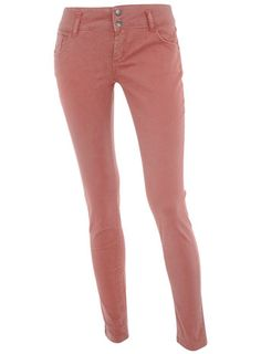 Colored denim are still on trend now so check out these @Dorothy_Perkins coral supperskinny jeans $17, get it here: http://rstyle.me/~9GrO