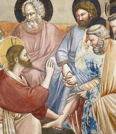 Giotto - Lavanda dei piedi, dettaglio - 1303-1305 - affresco - Cappella degli Scrovegni, Padova.