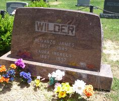 Laura Wilder Museum | Laura & Almonzo's Tombstone. They're Buried Near the Museum.