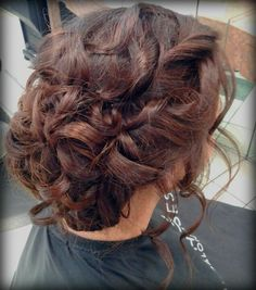Loose loops updo