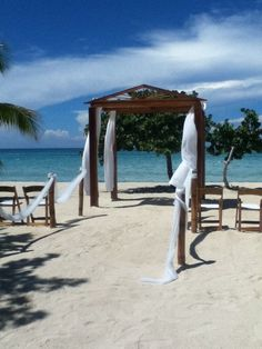 CN, Negril Jamaica.   We witnessed a lot of destination weddings while on the beach!  Ok my girls....something to think about in the future!