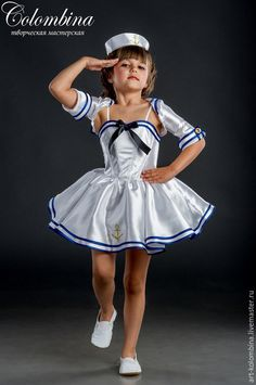Детские карнавальные костюмы ручной работы. Ярмарка Мастеров - ручная работа. Купить Костюм морячки. Handmade. Белый