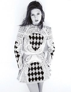 Adele Exarchopoulos wears Balmain