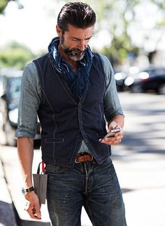 Mode Masculine, Old Man Fashion, Mens Fashion, Fashion Ideas, Fall Fashion, Style Fashion, Fashion Inspiration, Fashion Vest, Fashion Hoodies