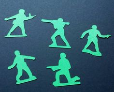Toy Soldiers Confetti, Army Men Confetti , 50 Pieces,  Boys Birthday Party Decorations, Army Toy, Green Army,Military, Army Party by madgicalcreations on Etsy