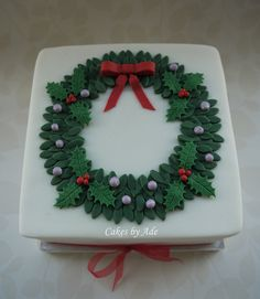 2011 Christmas Cakes - For our family..! 003 (w) by Cakes By Ade (from Ade's Piccies), via Flickr