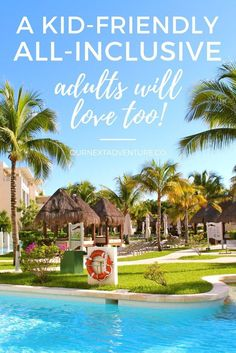 A Riviera Maya kid-friendly all-inclusive adults will love too! Where to find it in Playa del Carmen, Mexico // Family Travel | Travel with Kids | Beach Vacation
