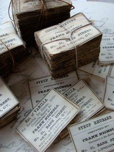 One Dozen Pharmacy and  Drug Co. Labels Antique by reginasstudio, $4.95