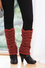 Loom knit legwarmers