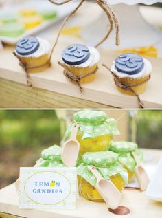 navy, lime + yellow lemonade stand