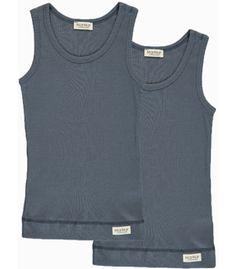 Sleeveless 2-Pack Modal Underwear - Ombre Blue