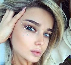 Rhinestones glitter and festival makeup looks beauty http://www.glowcultcosmetics.com