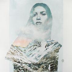 "Saatchi Online Artist: Oriol Angrill Jordà; Graphite 2013 Drawing ""Scarf of Cloud   blendscapes"""