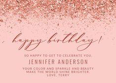 Glitter Abstract - Happy Birthday Card #greetingcards #printable #diy #birthday Happy Birthday, Diy Birthday, Birthday Cards, Birthday Card Template, Printable, Glitter, Messages, Templates, Abstract